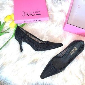Nina Black Glitter Heels 10